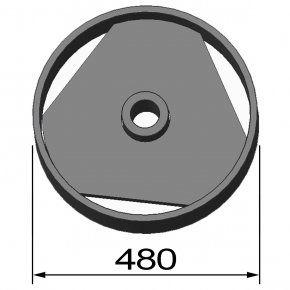 Mandril 381x70 para DEL-32-36-45-52 & COMBI 25-32 / 30-36 /36-52